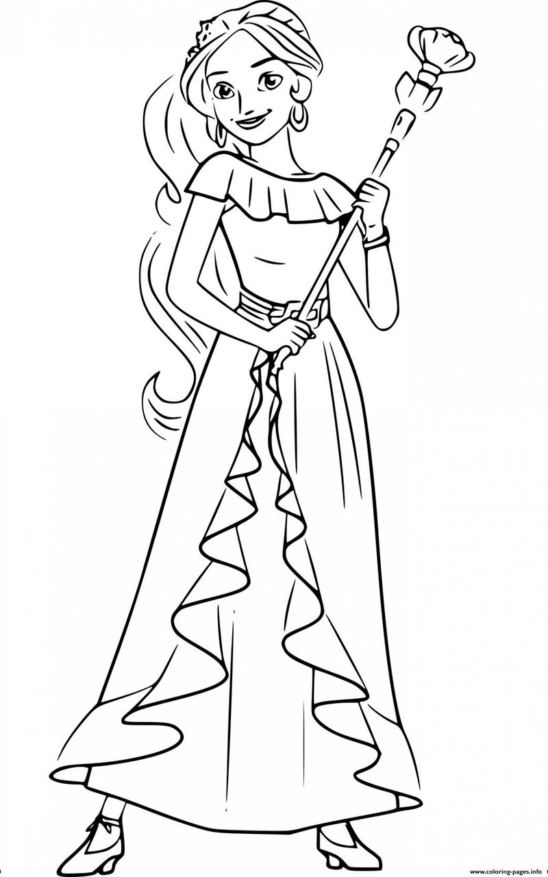 Elena Of Avalor Coloring Pages And Isabel free