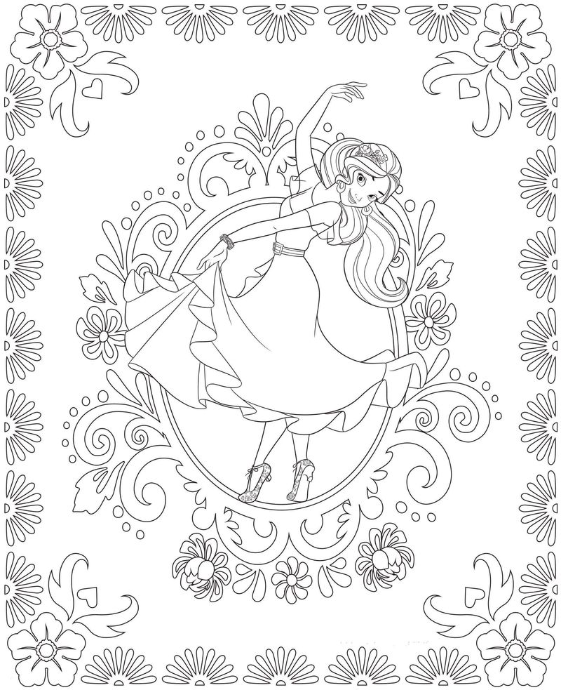 Elena Of Avalor Coloring Pages Download free