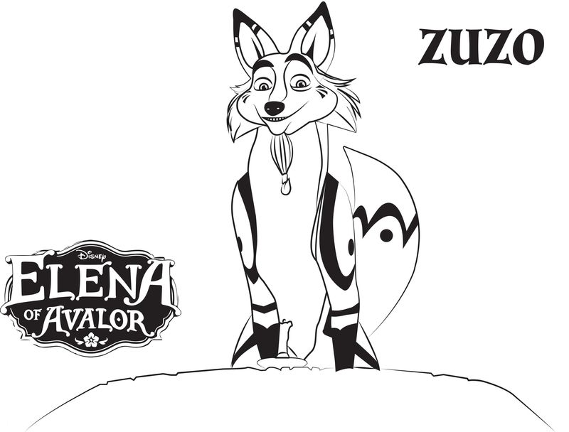 Elena Of Avalor Coloring Pages Group