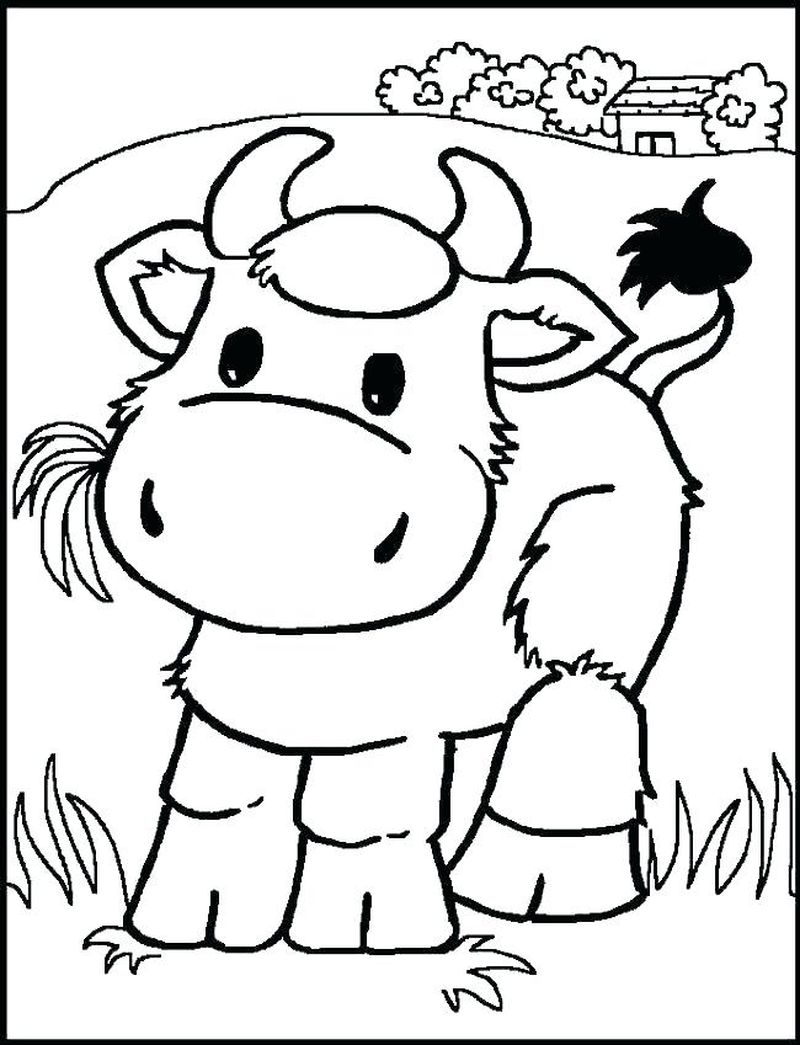 Farm Animal Coloring Pages Free Printable