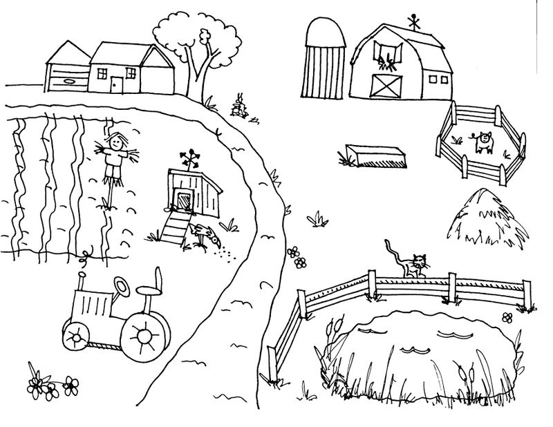 Farm Animal Coloring Pages Pdf