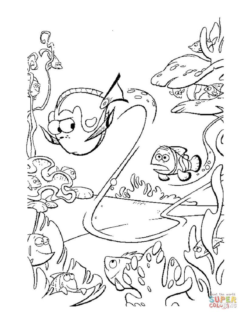 Finding Dory Coloring Pages Baby free