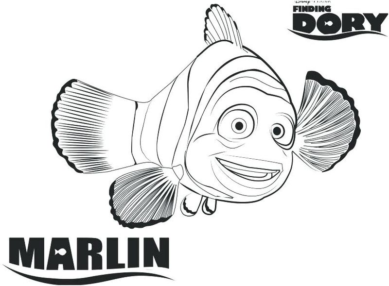 Finding Dory Coloring Pages Bailey free