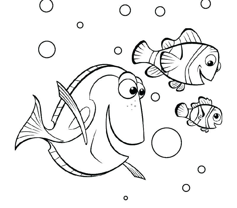 Finding Dory Coloring Pages Done free