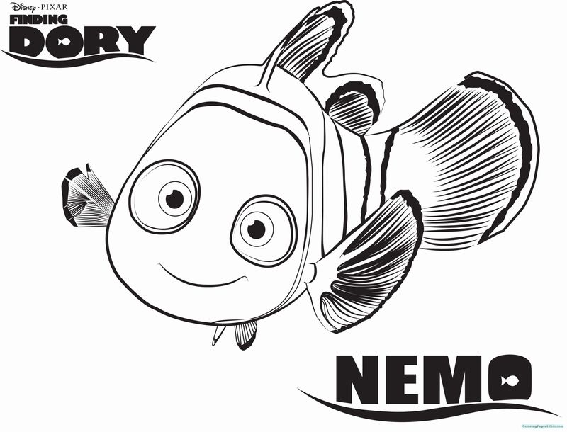 Finding Dory Coloring Pages Printable Free
