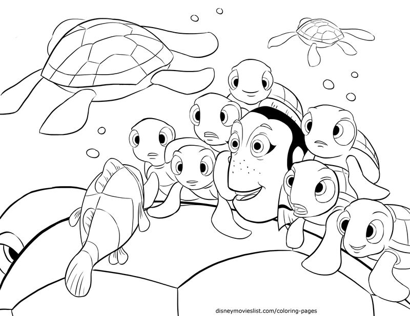 Finding Dory Coloring Pages To Print
