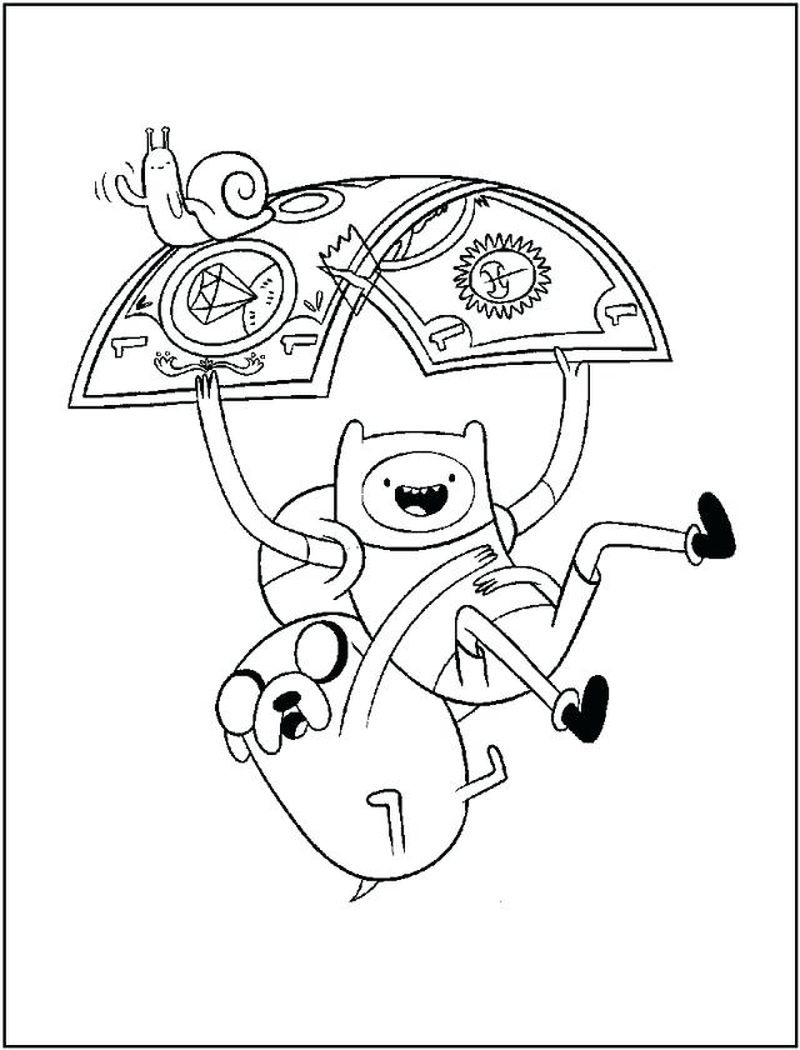 Finn And Jake Adventure Time Coloring Pages