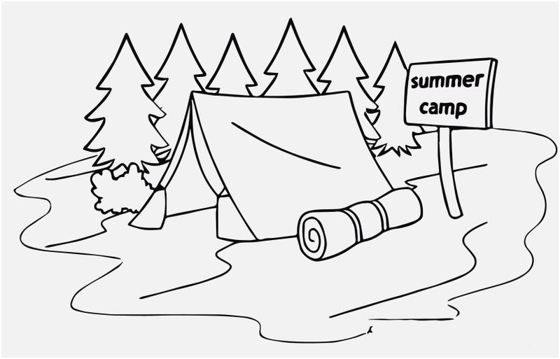 Free Camping Trailer Coloring Pages