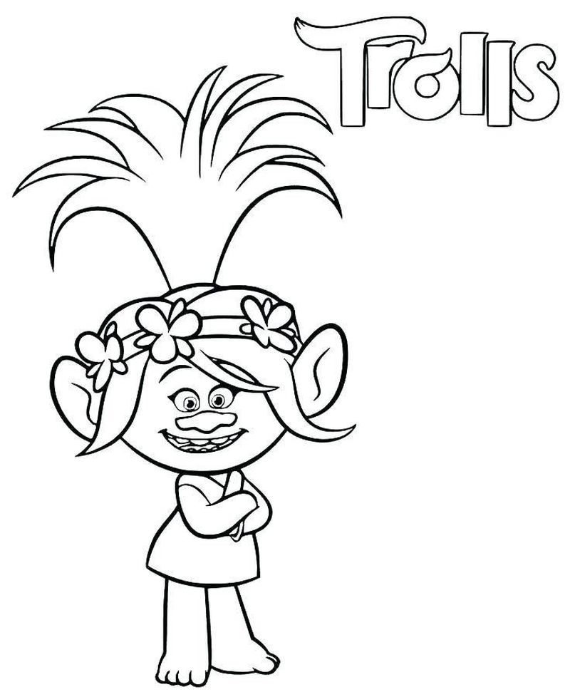 Free Coloring Book Pages Trolls