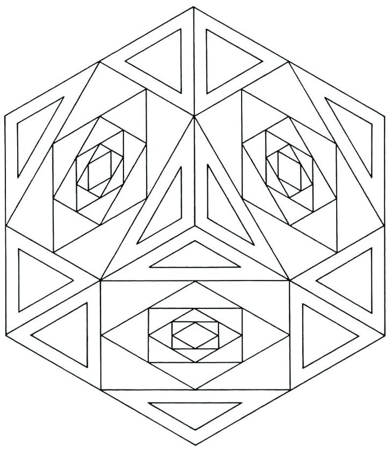 Free Coloring Pages Geometric Designs