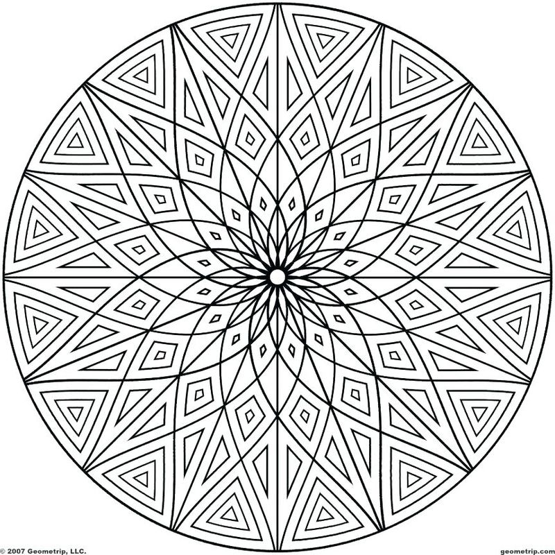 Free Coloring Pages Geometric Patterns