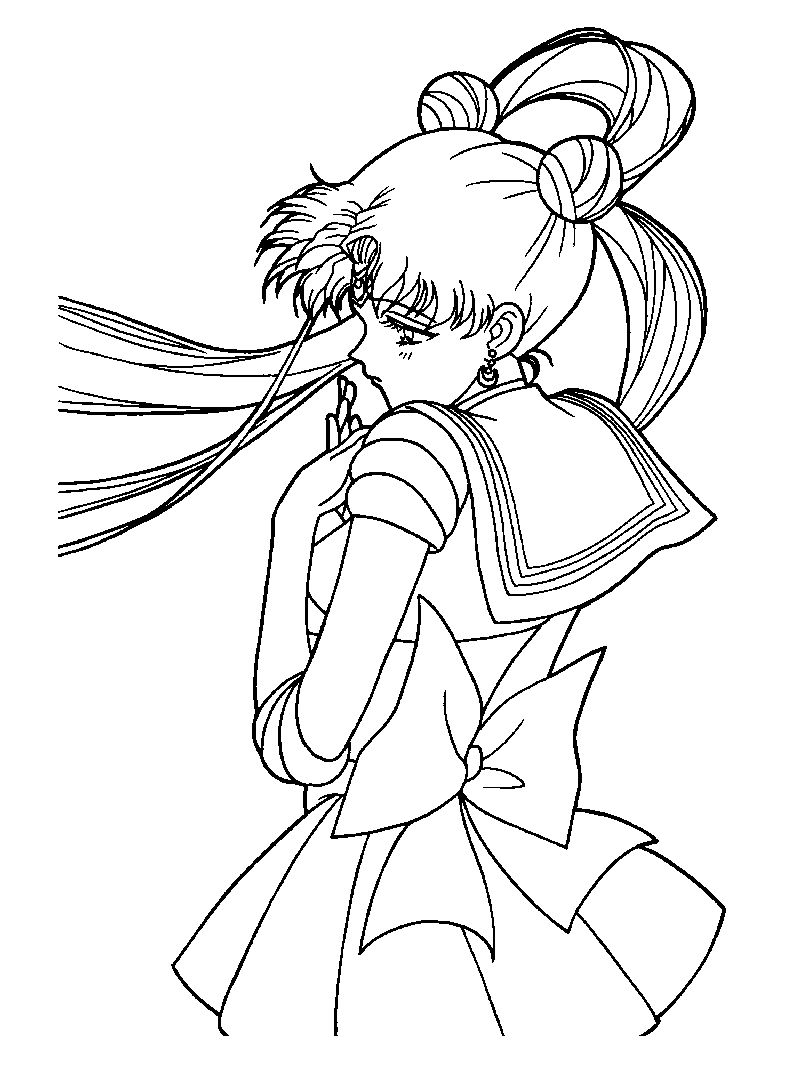 Free Coloring Pages Sailor Moon free