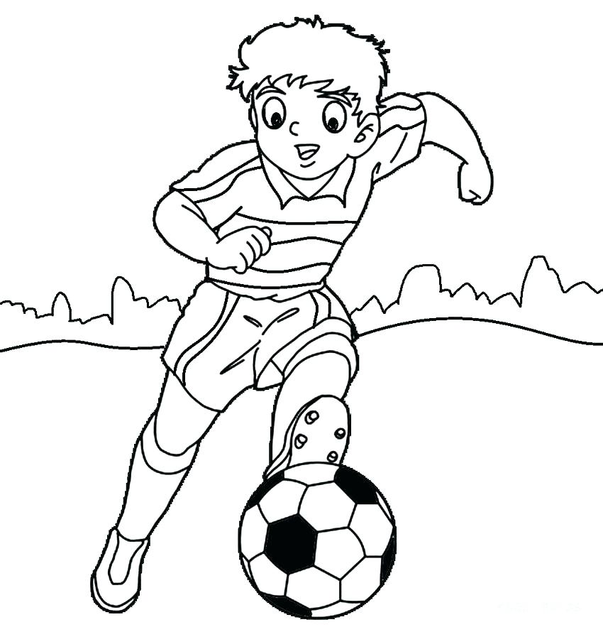 Free Coloring Pages Soccer