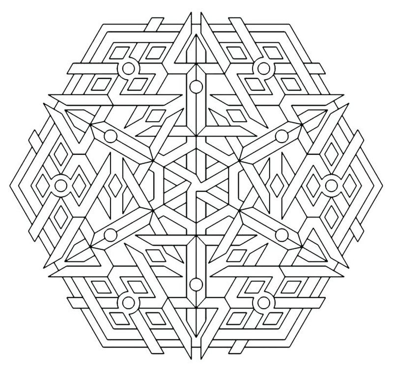 Free Geometric Coloring Pages Printable