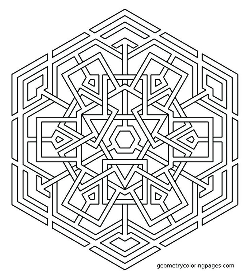 Free Geometric Shape Coloring Pages