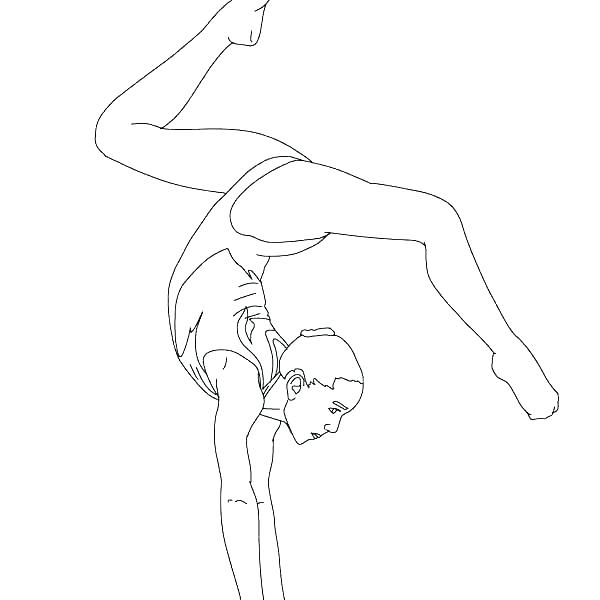 Free Gymnastics Coloring Pages Free