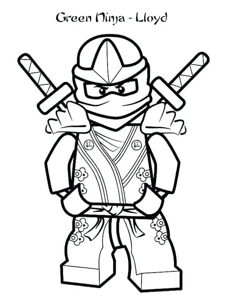 Free Ninja Coloring Pages
