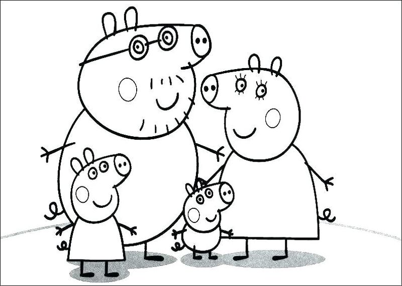 Free Pig Coloring Pages