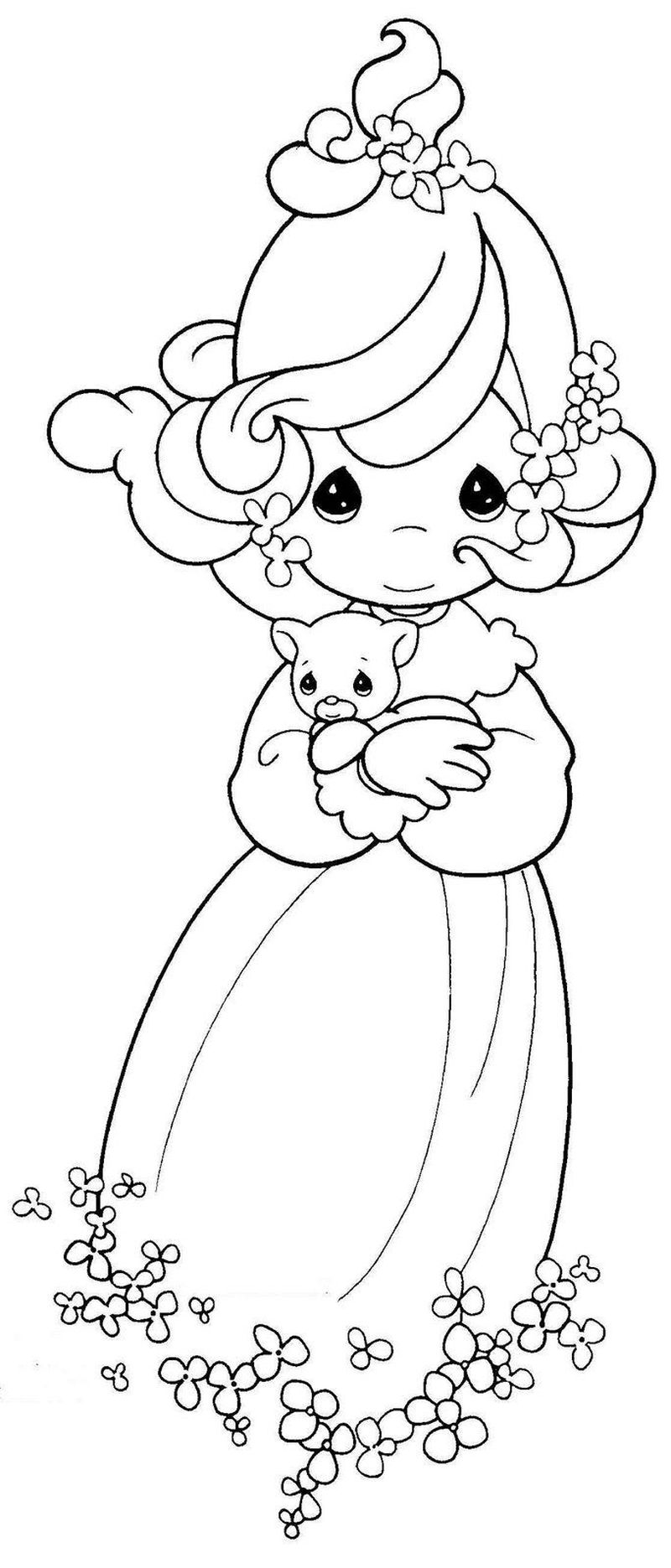 Free Precious Moments Christmas Coloring Pages