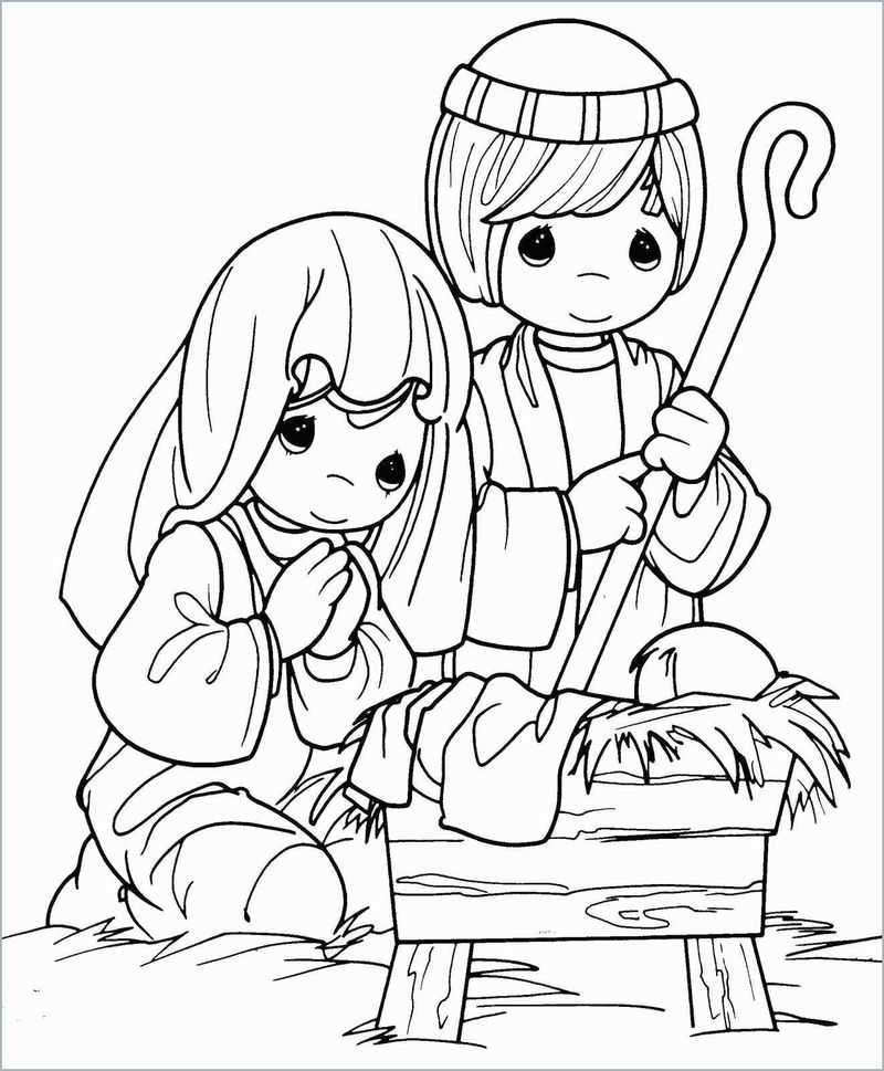Free Precious Moments Coloring Pages Printables