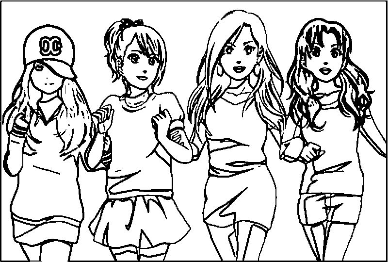 Free Printable Best Friend Coloring Pages pdf