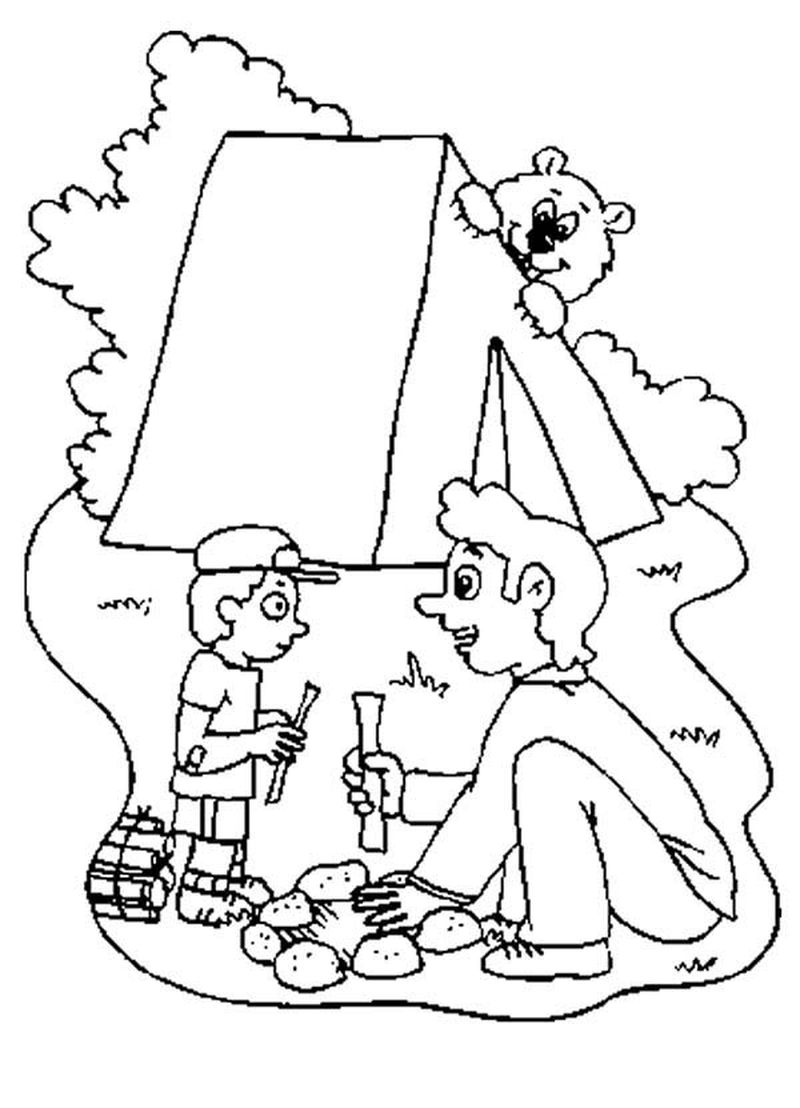 Free Printable Coloring Pages For Pre K Kids Camping