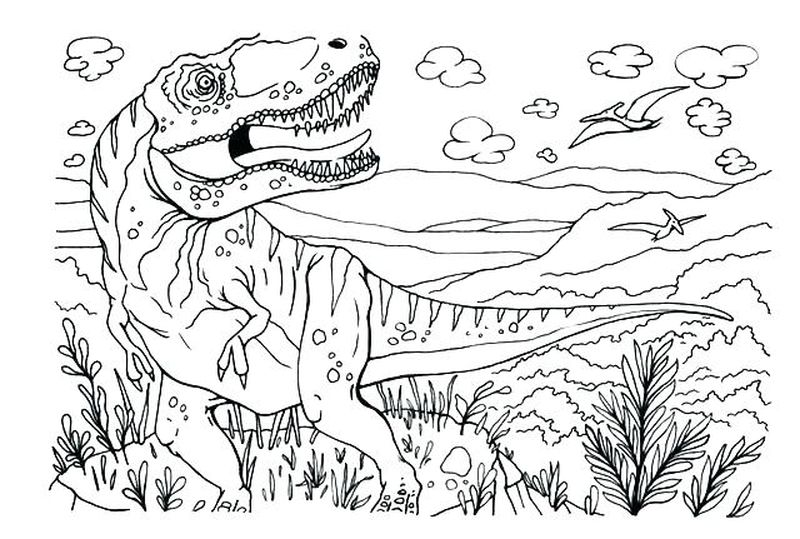 Free Printable Coloring Pages Jurassic World Copy