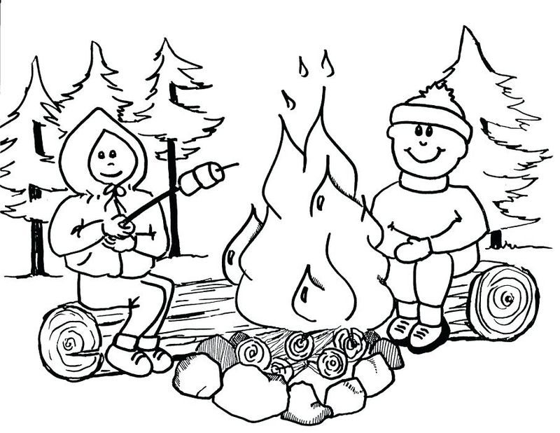 Free Printable Funny Fishing And Camping Coloring Pages For Adults