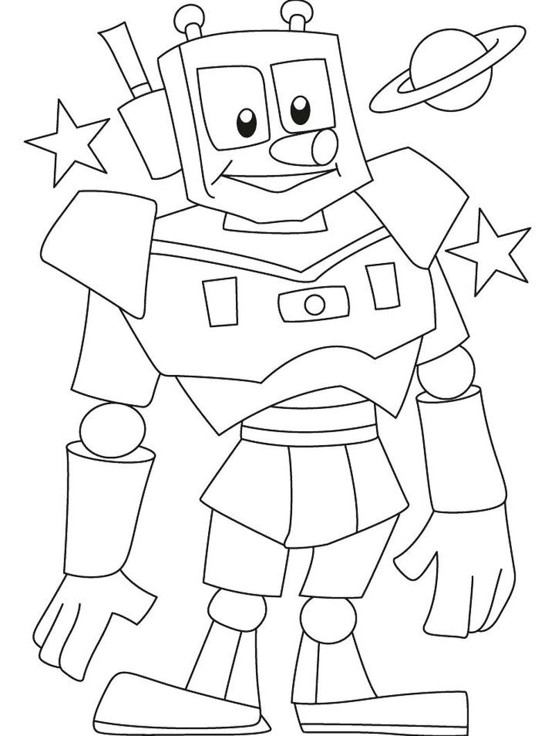 Free Printable Robot Coloring Pages Free