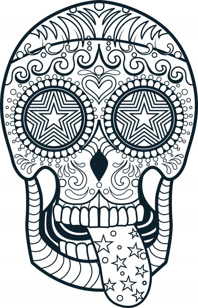 Free Printable Skull Coloring Pages For Adults