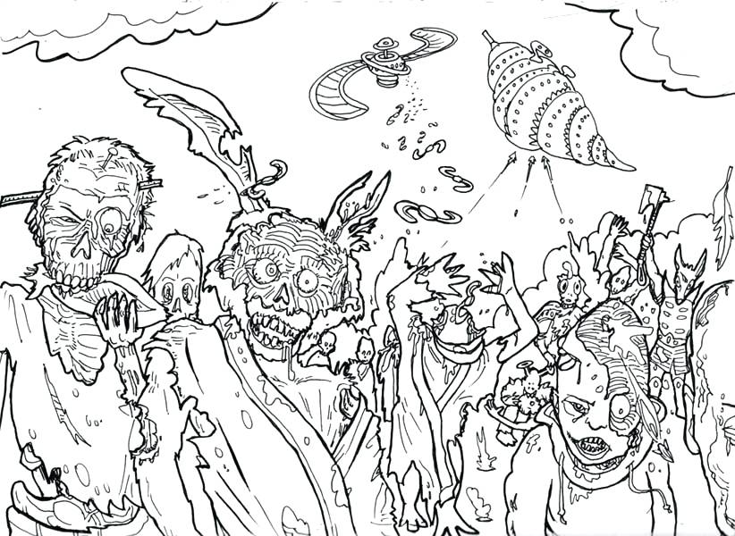Free Printable Zombie Coloring Pages