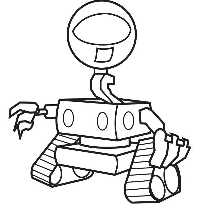Free Robot Coloring Pages Free