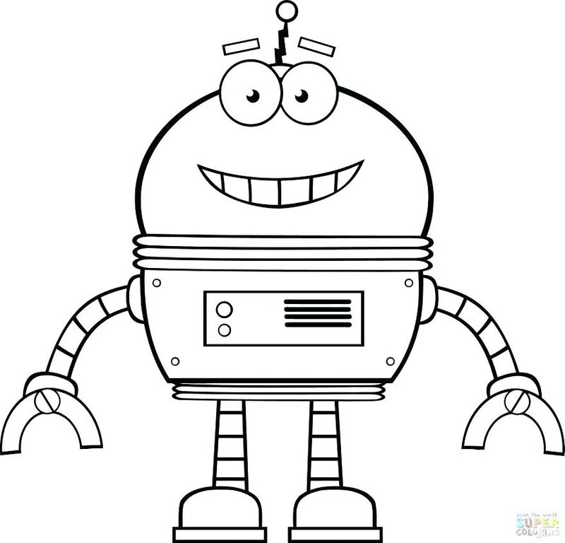Free Robot Coloring Pages Printable Free