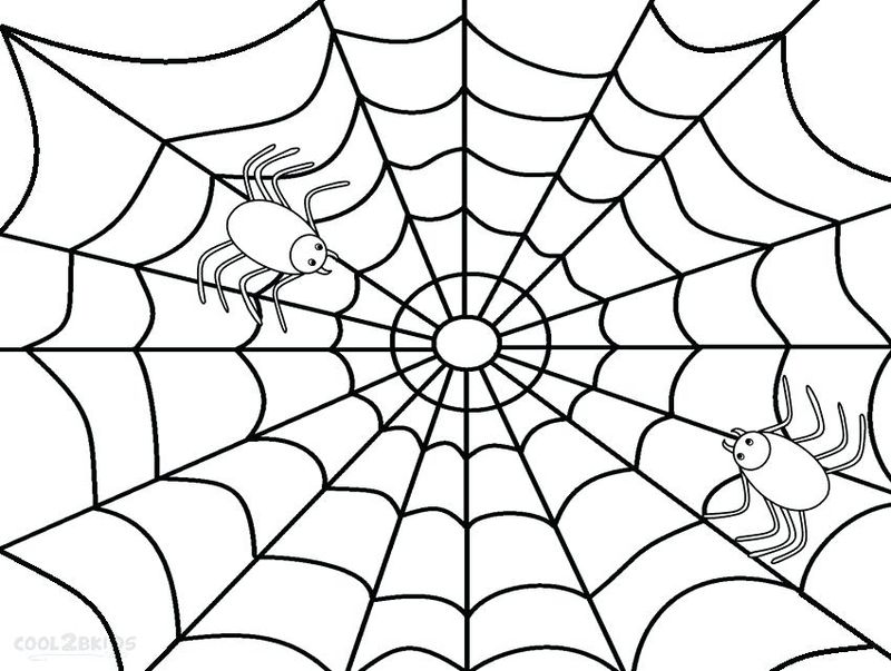 Free Spider Web Coloring Pages Printable