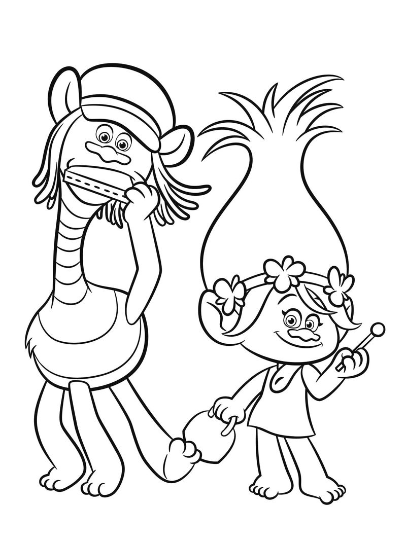 Free Trolls Coloring Pages Pdf