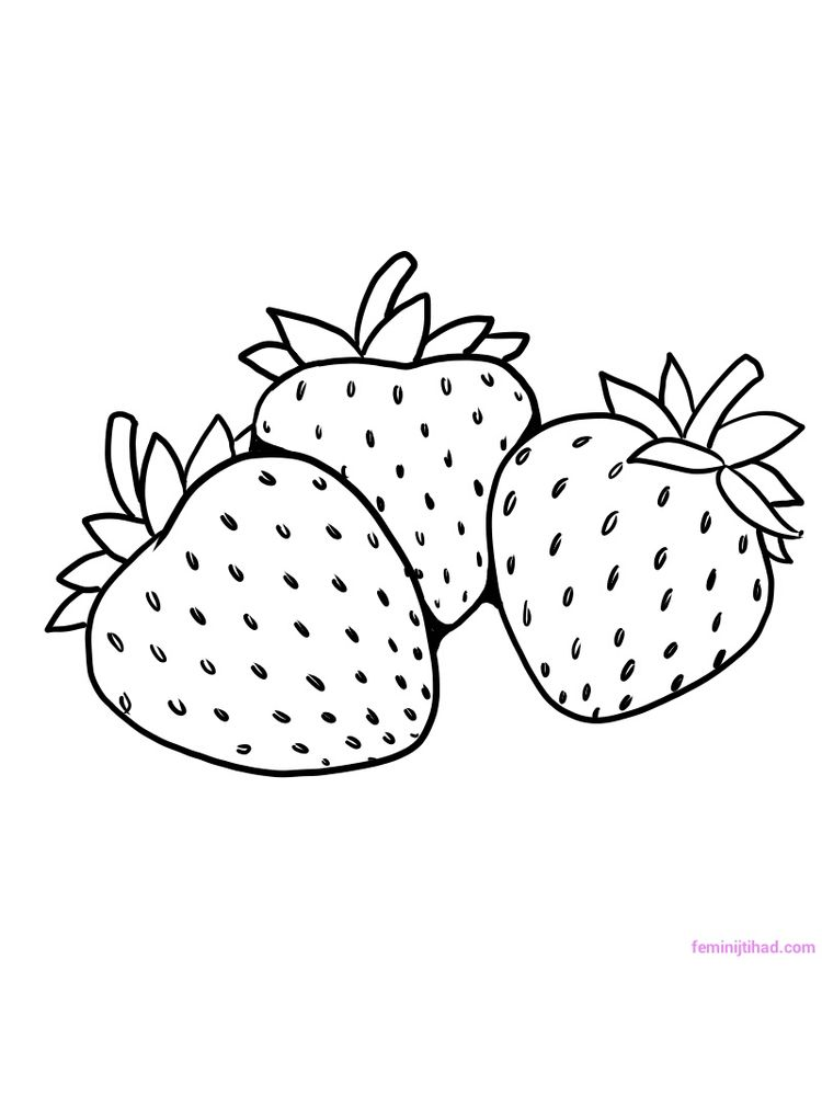 Free strawberry coloring pages free