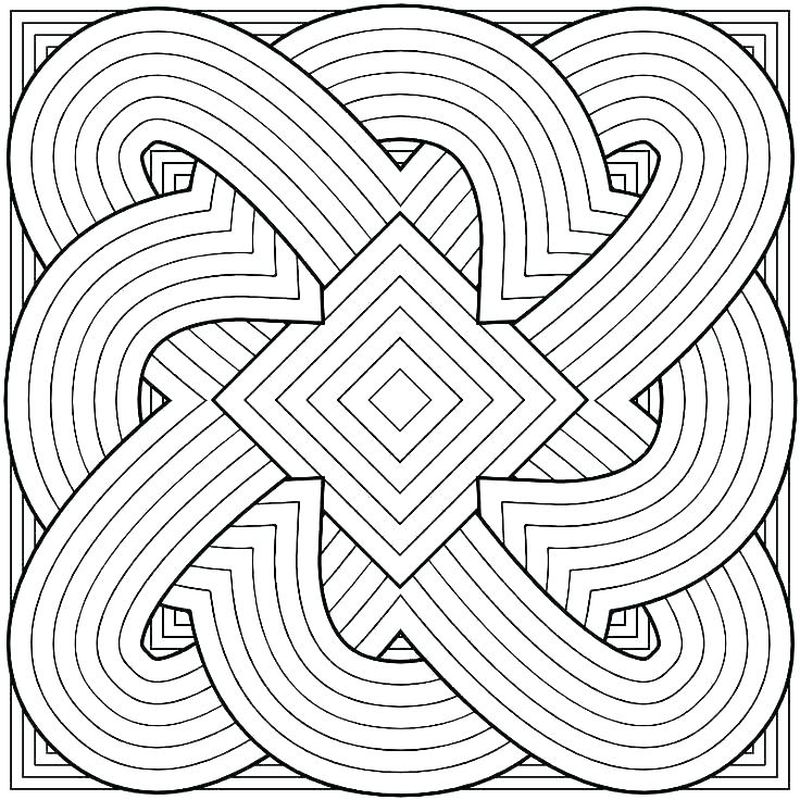 Geometric Coloring Pages Adults