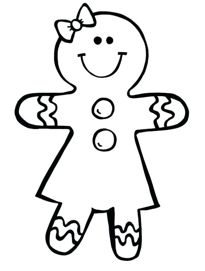 Gingerbread Man Coloring Page Pdf