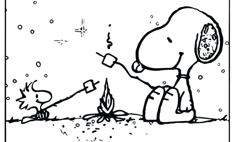 Girl Camping Coloring Pages