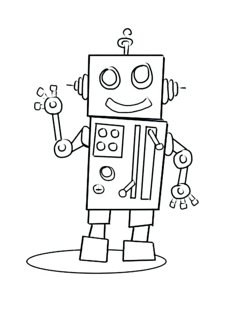 Girl Robot Coloring Pages Free