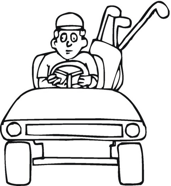 Golf Cart Coloring Pages free