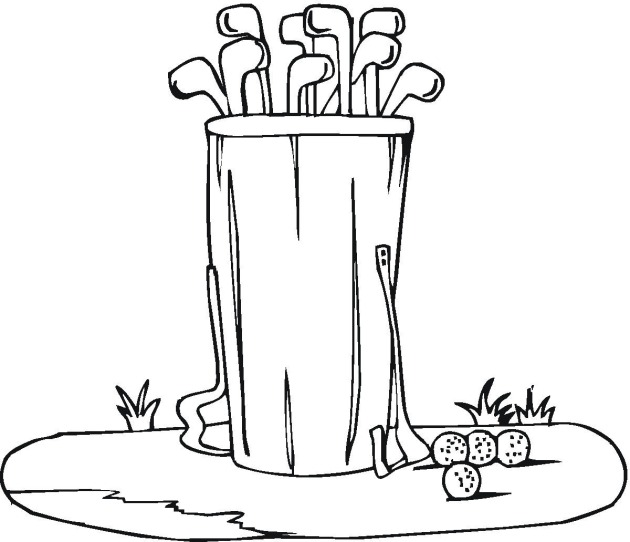 Golf Clubs Coloring Pages free