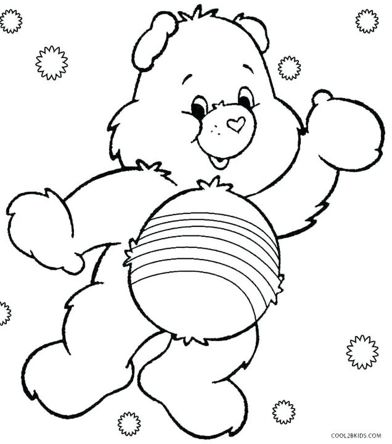 Good Luck Care Bear Coloring Pages pdf