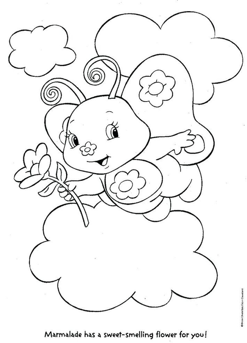 Grumpy Care Bear Coloring Pages pdf