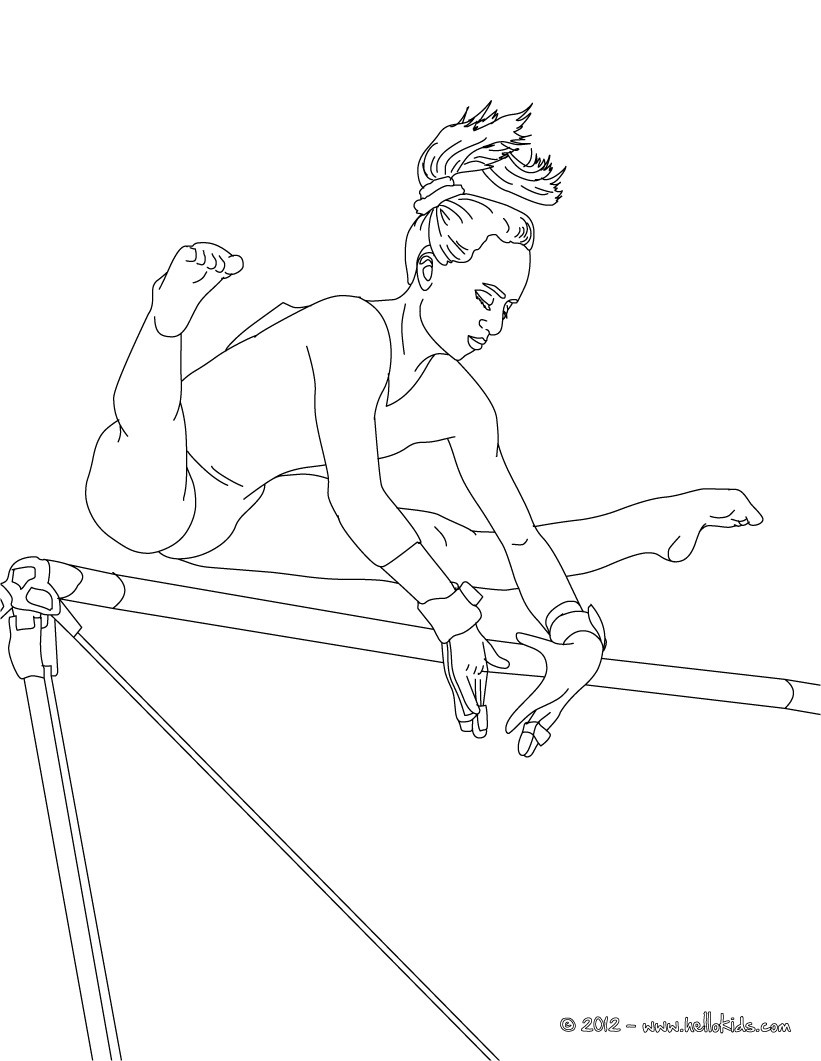 Gymnastics Coloring Pages Beam