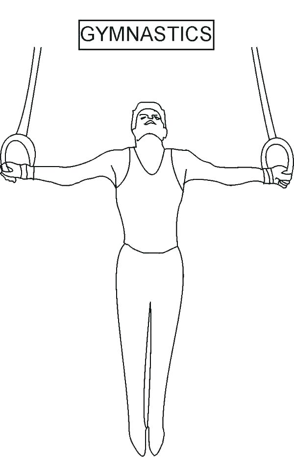 Gymnastics Coloring Pages On Floor