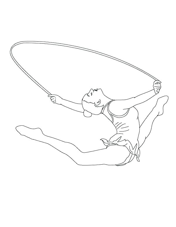 Gymnastics Olympics 2012 Coloring Pages