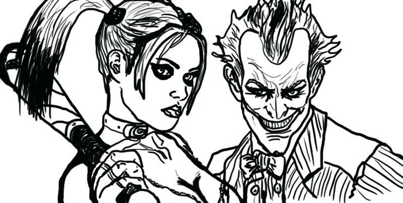 Harley Quinn Coloring Pages Clip Art image