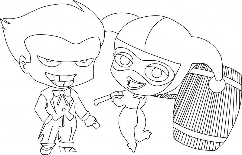 Harley Quinn Coloring Pages Clip Art pdf