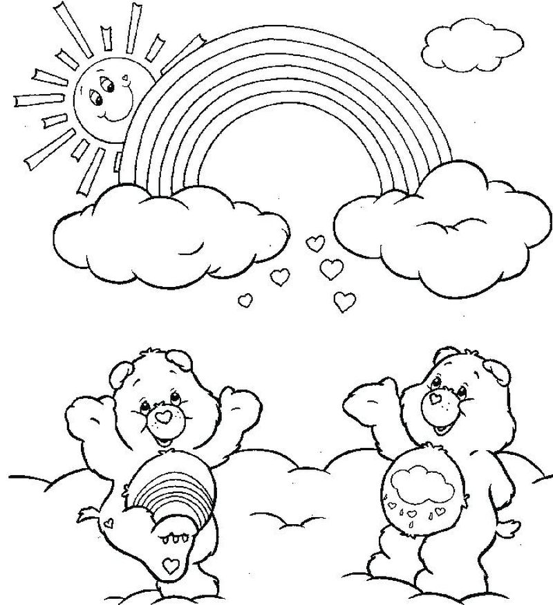 Harmony Care Bear Coloring Pages pdf